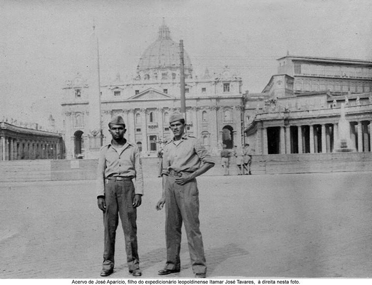 Acervo de José Aparício, filho do expedicionário leopoldinense Itamar José Tavares, à direita na foto.
